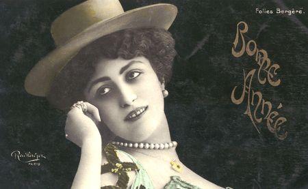 Vintage TopHat Lady