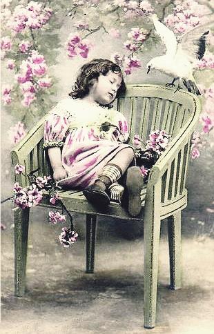 Girl Sleeping on Chair 1