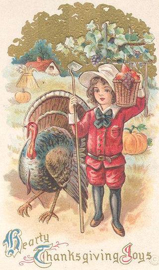 Victorian Thanksgiving Postcard 1