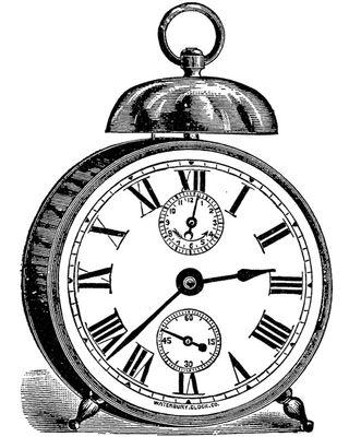 B&W Clock DOVER