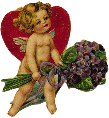 Cupid_with_purple_flowers