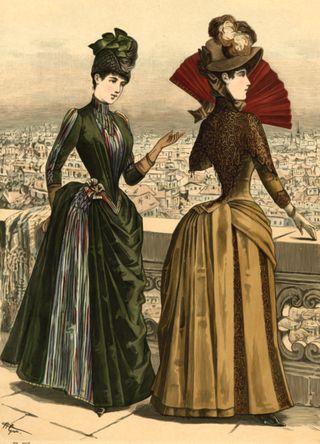 Victorian Women on Balcony