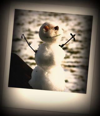 Julia's Snowman Sepia