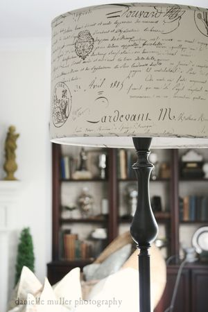 Pottery Barn French Script Lampshade 1