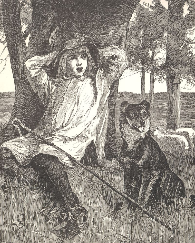 Shepherd boy with dog
