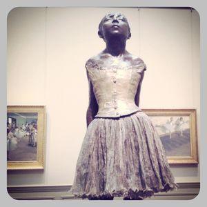 Degas statue of girl