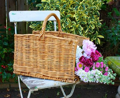 Vintage french willow basket FRENCH GARDEN HOUSE