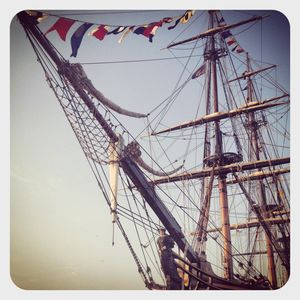 Bounty tallship in port jeff