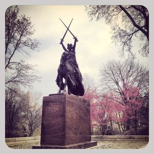 Statue in central park