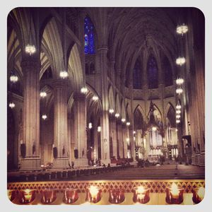 Candles @ st patricks cathedral