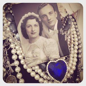 Nan & pop wedding picture