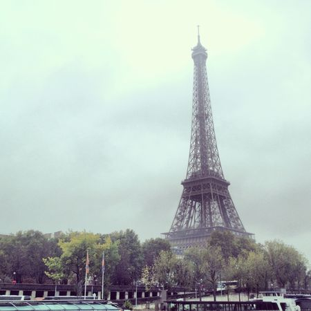 Eiffel tower on boat ride 1
