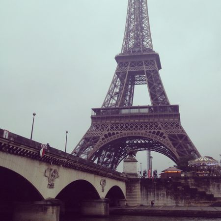 Eiffel tower on boat ride 2