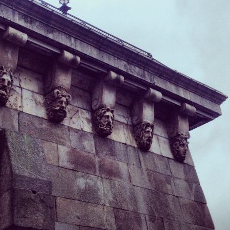 Faces on bridge