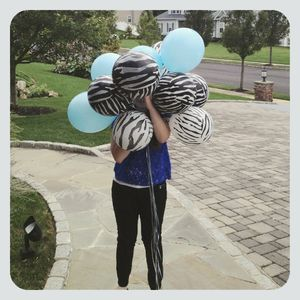 Julia with balloons