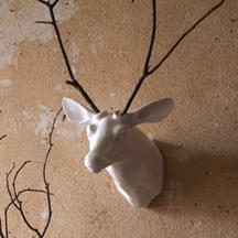 Ceramic deer head AWE