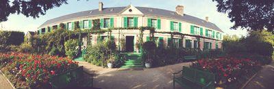 Monet's garden panoramic
